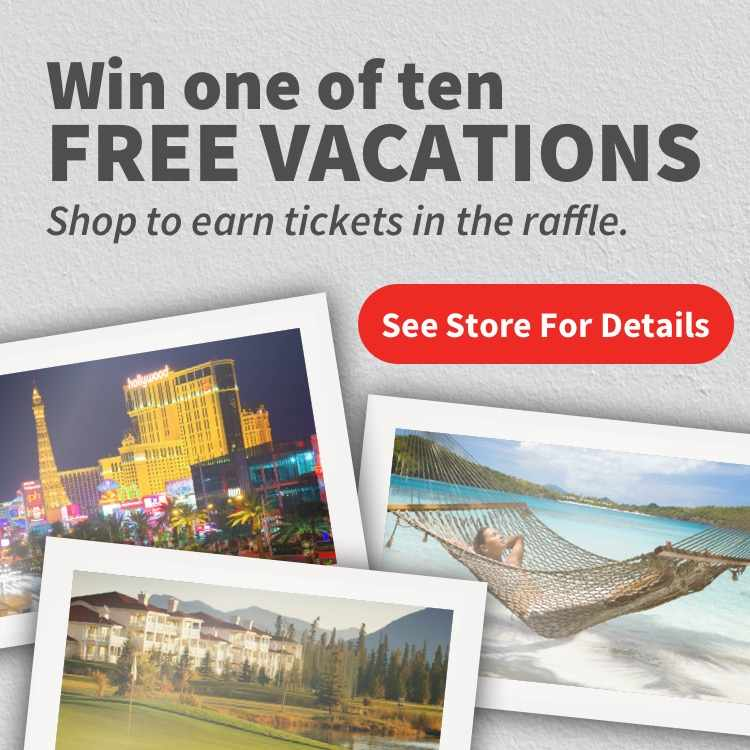 Enter the Vacation raffle from Manchester Hardware