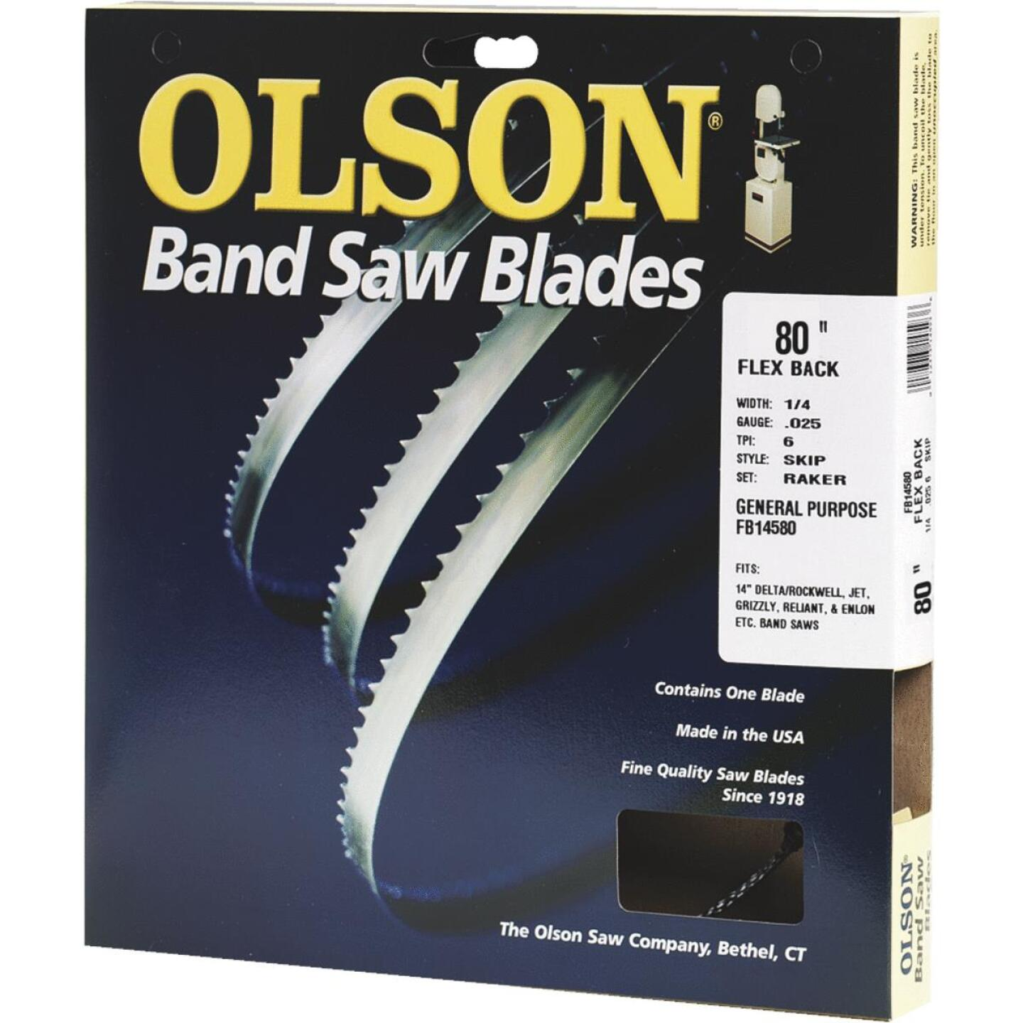 Olson 80 In. x 1/4 In. 6 TPI Skip Flex Back Band Saw Blade Image 1