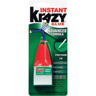 Krazy Glue 0.18 Oz. Liquid Maximum Bond Super Glue with Precision Tip
