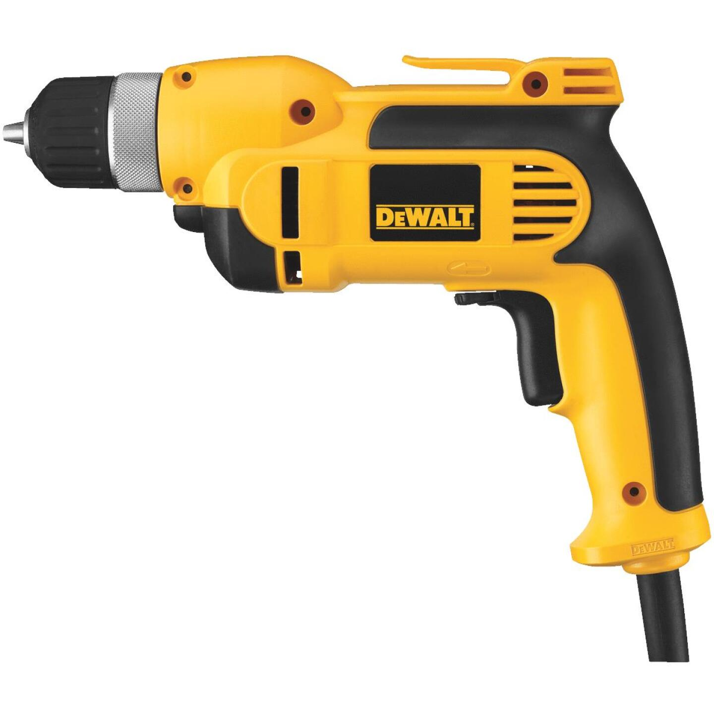 DeWalt 3/8 In. 8-Amp Keyless Electric Drill with Case Image 1