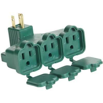 Do it Green 15A 3-Outlet Wall Hugger Tap
