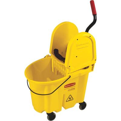 Rubbermaid Commercial WaveBrake 35 Qt. Down Press Combo Mop Bucket